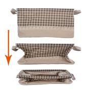 GreenForest Rectangular Home Organising Basket Foldable Storage Tote Basket Bin, Coffee