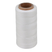 CNBTR 200M 1mm 150D Flat Waxed Leather Thread Cord Sewing White