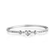 S925 Sterling Silver Heart Shape Bracelet 22cm