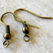 "Antique Bronze Earrings,18mm (3/4"") French Hook Ear Wires, 200 Pieces, Nickel Free, Hypoallergenic"