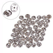 Mudder 50 Pieces Brass Butterfly Clutch Badge Insignia Clutches Pin Backs Replacement, Silver