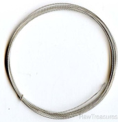 18 Gauge .925 Sterling Silver Twist Dead Soft Round Wire - 1.2m
