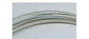 18 Gauge Sterling Silver Half Hard Round Wire - 1.5m