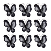 LEORX Glitter Butterfly - Sheer Mesh Wire with Gem 50pcs