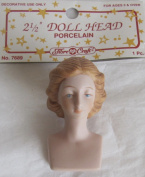 Fibre Craft PACK of 1 PORCELAIN 'Lady - Angel' DOLL HEAD 5.1cm - 1.3cm w Moulded REDDISH Colour HAIR