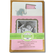 Sweet Baby Announcement or Invitation Kit 50 Count for Girl
