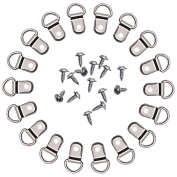 LGGE 100 Pcs D Ring Picture Frame Hanging Hangers Single Hole with Screws
