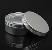 Teensery 5 Pcs Empty Aluminium Tin Cosmetic Pot Jar Makeup Lip Balm Face Cream Nail Art Container Bottle