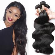 Candysara Hair Brazilian Virgin Human Hair Weave 3 Bundles Deal Brazilian Body Wave Hair Weft Extensions Natural Colour