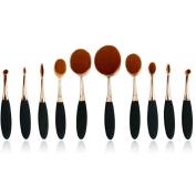 Longqi Beauty New Premium SyntheticToothbrush Design Makeup Brush Set Cosmetics Foundation Blending Blush Eyeliner Face Powder Brush Makeup Brush Kit