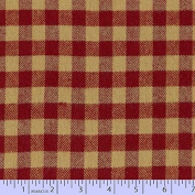 Marcus Fabric Christmas Primo Primo Cotton Flannel Plaid Red Cheque