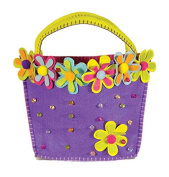 Groovy Holidays Felt Flower Beaded Gift Bag