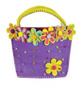 Groovy Holidays Felt Flower Beaded Gift Bag