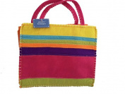 Groovy Holidays Felt Stripes Gift Bag