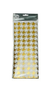 Gold Houndstooth Gift Wrap Tissue Paper, 50cm x 80cm , 4 Sheets