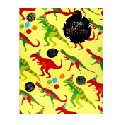 Dino MiteTote Gift Bag, Large, 5 x 10 x 12.5 nches