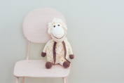 Organic Soft Baby Toys - Crocheted Sheep -Darla the Lamb