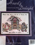 Heart's Delight Counted Cross Stitch Kit, Bless This House