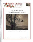 Scarlet Quince STE005lg Chat au Clair de Lune by Theophile-Alexandre Steinlen Counted Cross Stitch Chart, Large Size Symbols