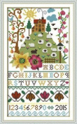 "Joy Sunday Cross Stitch kits, Flowers alphabet,14CT Counted, 21cm×35cm or 8.19""×13.65"""