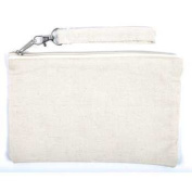 Large Canvas Wristlet 15cm x 23cm , Natural Colour, 100% Cotton Canvas - Pack of 12