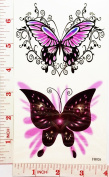 Graphic fantasy butterfly Temporary Waterproof Tattoo Art Body Stickers Removable Fashion Henna Tattoo Inspired Sticker Gifts by Magic movement