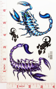 scorpion Poison Temporary Waterproof Tattoo Art Body Stickers Removable Fashion Henna Tattoo Inspired Sticker Gifts by Magic movement