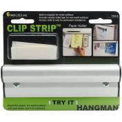 Hangman Products CSA-6 Anodized Clip Strip, 15cm , White