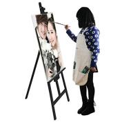 Airgoesin Artist Apron Shop Crafter Painting Sculpting Drawing Bib Makeup Teacher Painter Tool with Pocket