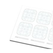 OLizee® Creative iPhone App Icon Design Sketch Pad UI Design Notebook