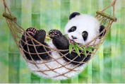 Queenlink Full Pasted DIY Square Diamond Embroidery Paintings Rhinestone Cross Stitch Panda