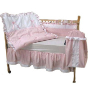 bkb Pretty Pique Crib Bedding Set, Pink