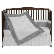 bkb Crocodile II Crib Bedding Set, Grey