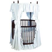 bkb Eyelet Round Crib Bedding, White