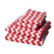 bkb Chevron Round Crib Bedding, Red