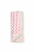 Bella Bundles Chevron Luxury Blanket, Pink
