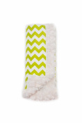 Bella Bundles Chevron Luxury Blanket, Lime