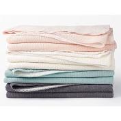 Coyuchi Cosy Cotton Organic Baby Blanket - Charcoal