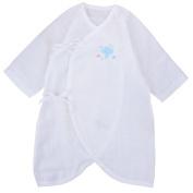 JISEN® Baby Half Sleeve Kimono Baby Cloth with Bottom Snapper Butterfly Style Baby Coat Baby Blanket