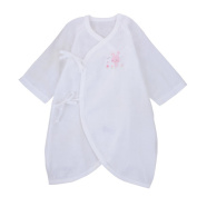 JISEN® Baby Half Sleeve Kimono Baby Cloth with Bottom Snapper Butterfly Style Baby Coat Baby Blanket