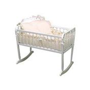 bkb Pretty Pique Cradle Bedding, Ecru, 38cm x 80cm