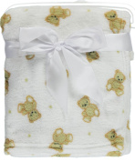 "My Baby ""Stuffed Animal Medley"" Fitted Crib Sheet - white, one size"