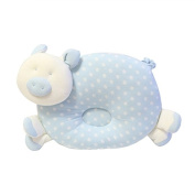 KMMall Baby Pillow and Toy Shaped as Cute Piggy , Soft Blue Colour