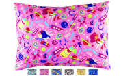 TODDLER PILLOWCASE - Fits all 33cm x 46cm and 33cm x 48cm pillows - Fun Designs that Kids Love - High Quality Envelope Style - Hand Crafted in OHIO -