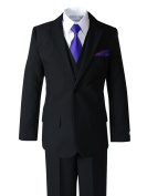 Spring Notion Baby Boys' Modern Fit Dress Suit Set with Necktie and Handkerchief