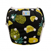 LBB(TM) One Size Reuseable Washable Baby Swim Nappies,Pineapple Printed