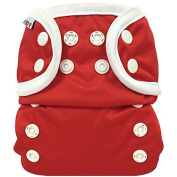 Bummis All-In-One Cloth Nappy - One Size - 3.6-16kg - Red