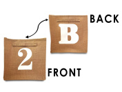 Storage Basket, Eco-friendly Jute Material. You decide which side to display! Great Bins for Bookshelves of All Sizes in Kids Rooms, Living Rooms, Playrooms, Offices. Fits into Ikea Bookcases too!