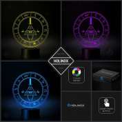 Gravity Falls Bill Cypher Wheel Lighting Decor Gadget Lamp + Sticker Decor for Perfect Set, Awesome Gift