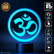 Om Symbol Lighting Decor Gadget Lamp + Sticker Decor for Perfect Set, Awesome Gift